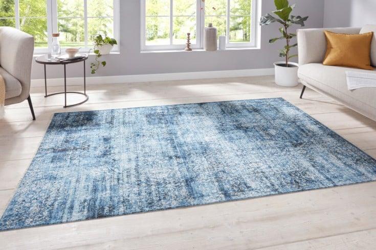 Design Teppich HERITAGE 230x160cm blau beige orientalisches Muster