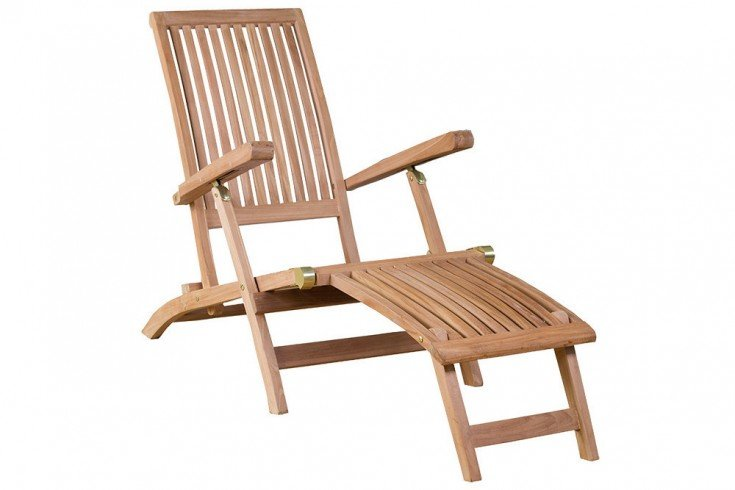 Verstellbare Gartenliege EMPIRE TEAK 170cm Teakholz Deckchair