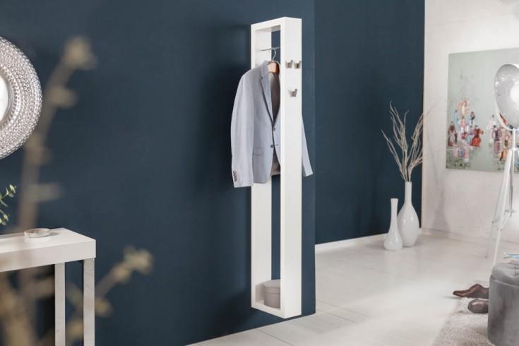 Moderne Wandgarderobe APARTMENT 171cm weiß matt mit Stange und Haken
