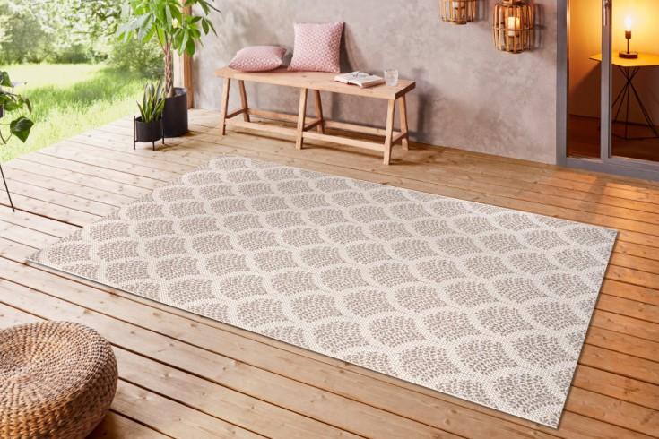 Outdoor Teppich OASIS 230x160cm hellbraun beige Ethno-Muster wetterfest