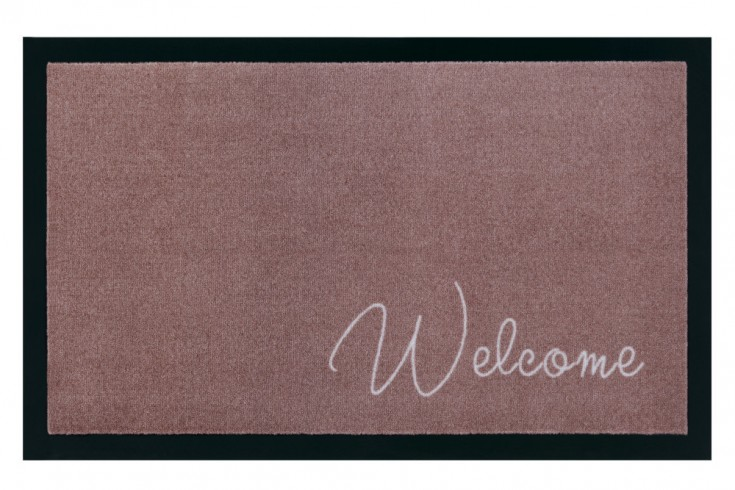 Strapazierfähige Fußmatte CLEAN WELCOME 75x45cm braun Fußabtreter Modern Design