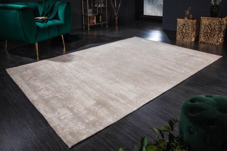 Vintage Teppich MODERN ART 240x160cm beige verwaschen Used Look