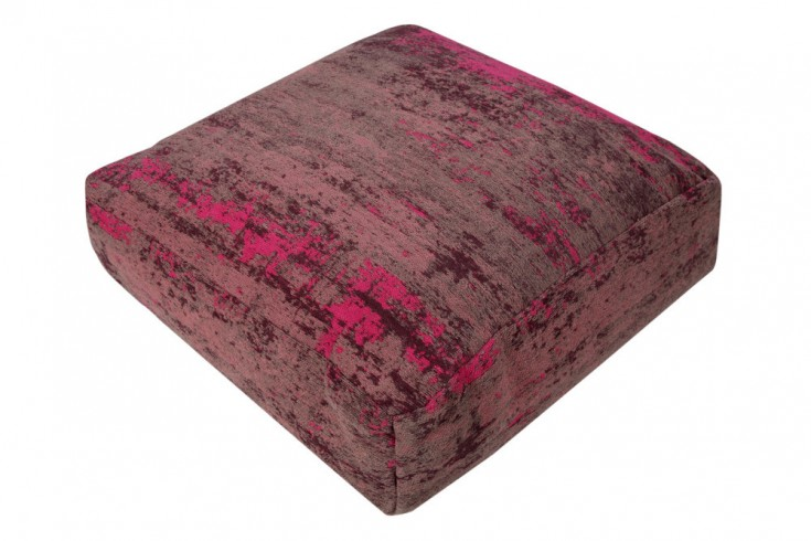 Design Bodenkissen MODERN ART 70cm rot pink abstraktes Muster Sitzkissen