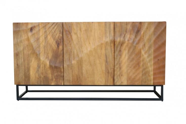 Massives Sideboard SCORPION 140cm braun Mangoholz aufwendige 3D Schnitzereien