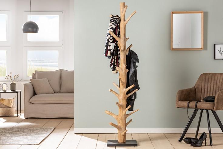 Massiver Garderobenständer TREE NATURE 170cm natur Holz Kleiderständer