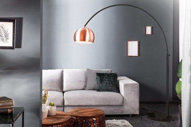 Ausziehbare Bogenlampe LOUNGE DEAL 170-210 cm kupfer Stehlampe