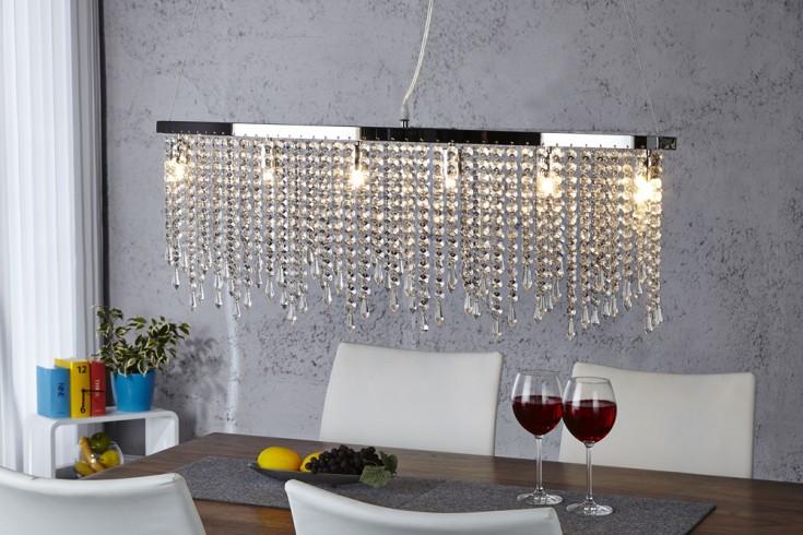 Designer Hängeleuchte GALA mit Strasssteinen Glasprismen