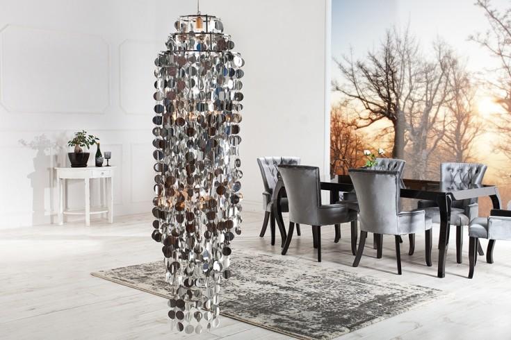Riesige Designer Hängelampe HYDRA CHROME 170cm Leucht Objekt silber