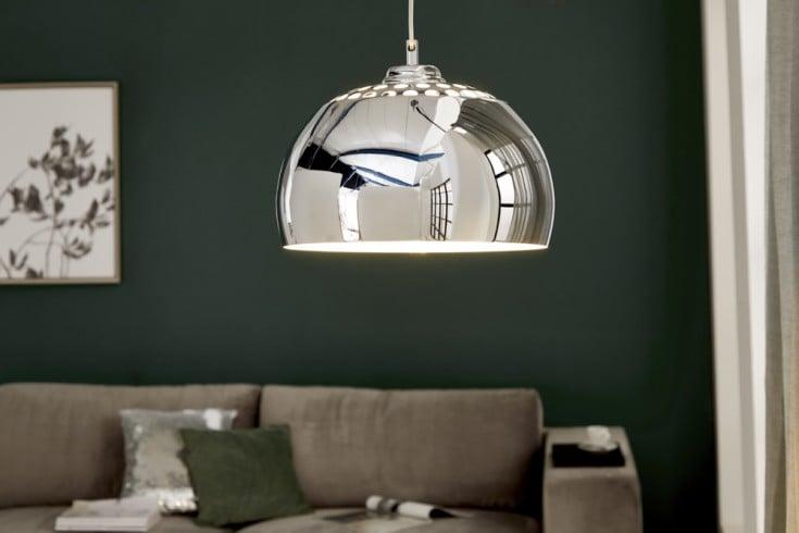 Designer Hängelampe CHROME BALL 32cm chrom Pendelleuchte Modern Design
