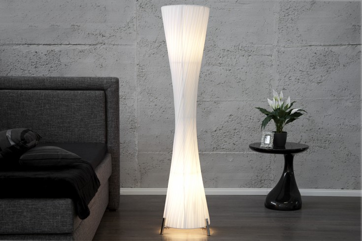 Riesige Design Stehlampe HELIX XXL weiß 200cm