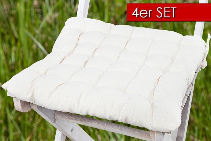 4er Set Design Sitzkissen SUMMER Beige 40x40cm
