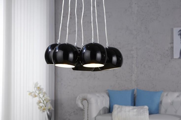 Designer Hängeleuchte BLACK PEARLS schwarz Kugelleuchte