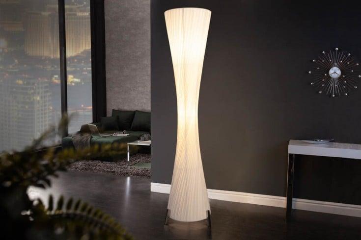 Moderne Design Stehlampe PARIS L 160cm weiß Stehleuchte