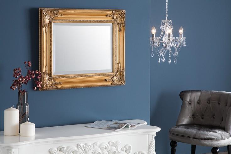 Filigraner Rockbarock Spiegel SPECULUM gold 55x45cm Wandspiegel