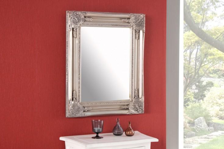 Filigraner Rockbarock Spiegel SPECULUM silber 55x45cm Wandspiegel