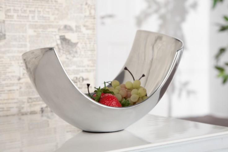 design accessoire metall aluminium legierung schale abstract 25 cm riess. Black Bedroom Furniture Sets. Home Design Ideas