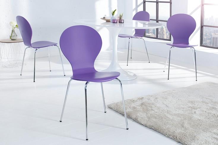Design Stuhl FORM lila stapelbar