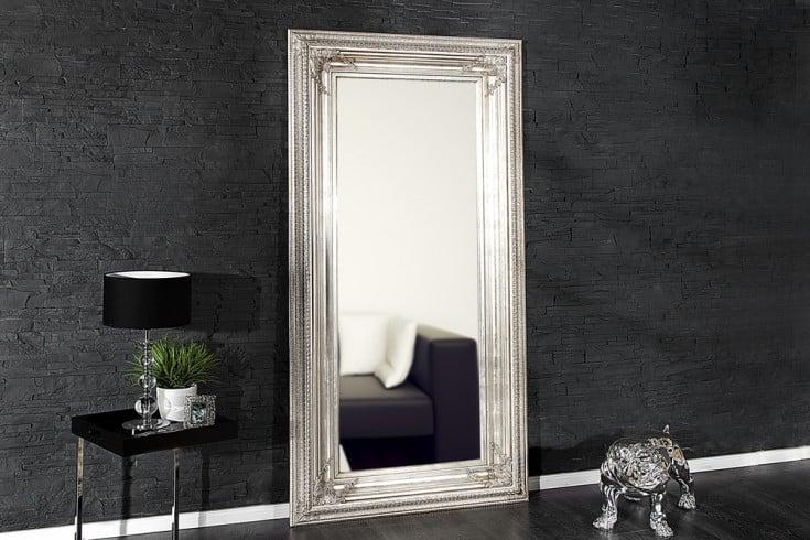 Barock Spiegel RENAISSANCE Antik Look silber 210x100cm Wandspiegel
