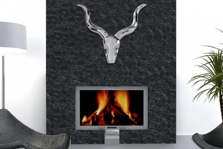 Moderne Wanddekoration STYLE ROCKS  50cm silber Geweih