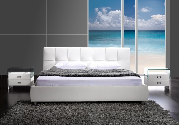 design bett barcelona 140x200 cm weiss riess ambiente onlineshop. Black Bedroom Furniture Sets. Home Design Ideas