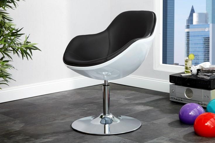 Design Sessel SPEEDCHAIR weiss schwarz