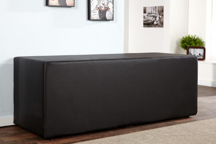 Design Clubbank Monolit 3er schwarz 45cm