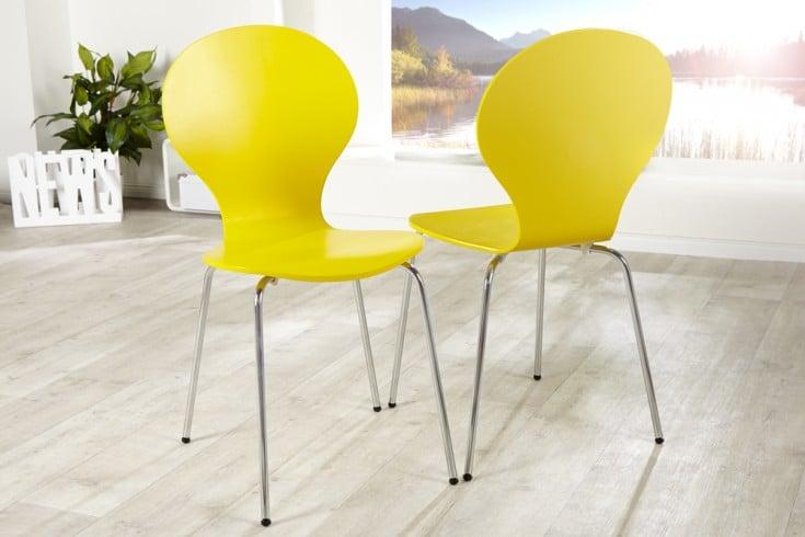 Design stuhl form gelb riess ambiente onlineshop for Design stuhl form