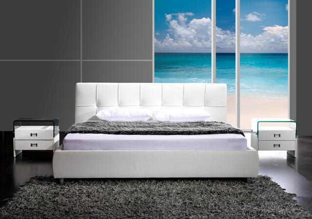 Design Bett BARCELONA 160x200 cm weiss