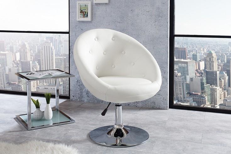 Design Drehsessel COUTURE weiß höhenverstellbar im Loungedesign