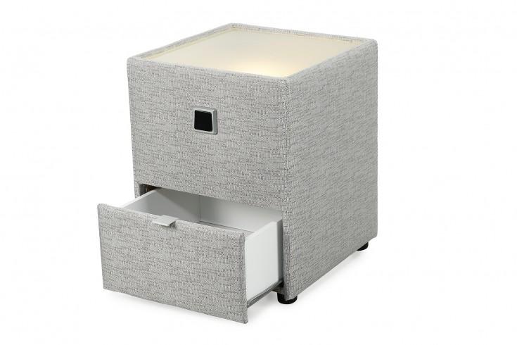 nachtkommode in grau beleuchtet riess. Black Bedroom Furniture Sets. Home Design Ideas