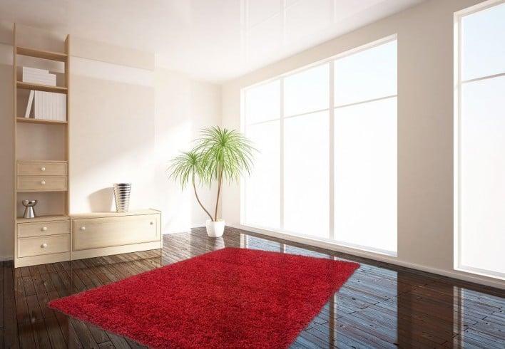 Design Hochflor Teppich SHAGGY bordeaux 160x230cm