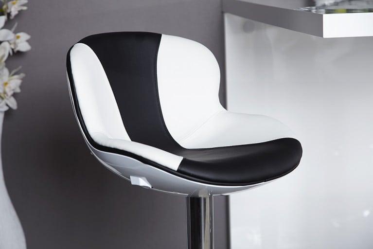 Design Barhocker SPEEDCHAIR weiss schwarz Barstuhl