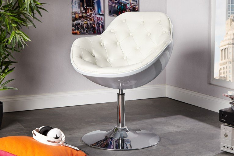 Design Sessel SPEEDCHAIR gesteppt weiss