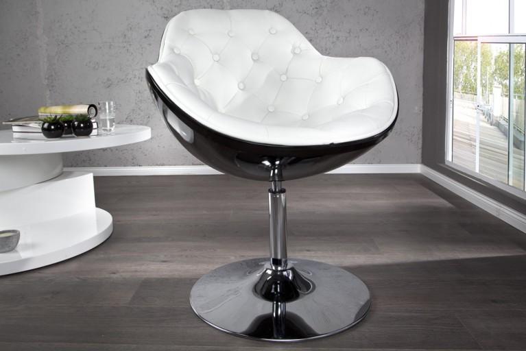 Design Sessel SPEEDCHAIR gesteppt schwarz weiss