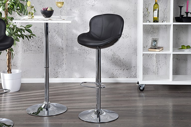 Design Barhocker SPEEDCHAIR schwarz total Barstuhl