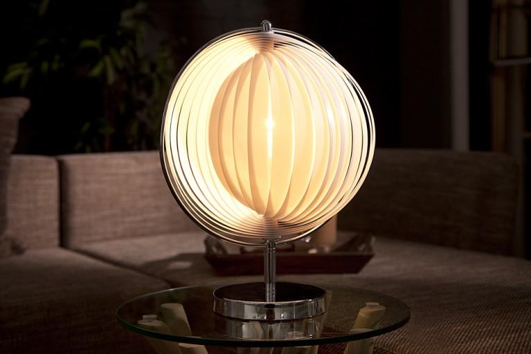 Design Tischlampe MOON SHAPE weiß