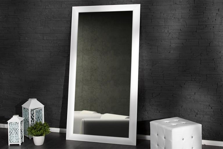 Großer moderner Design Spiegel ESPEJO weiss matt 190x90cm Wandspiegel