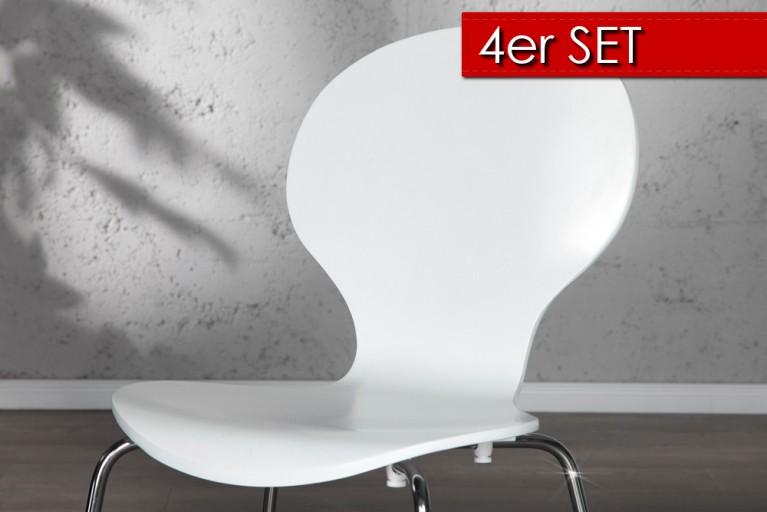 4er Set Design Stuhl FORM weiss