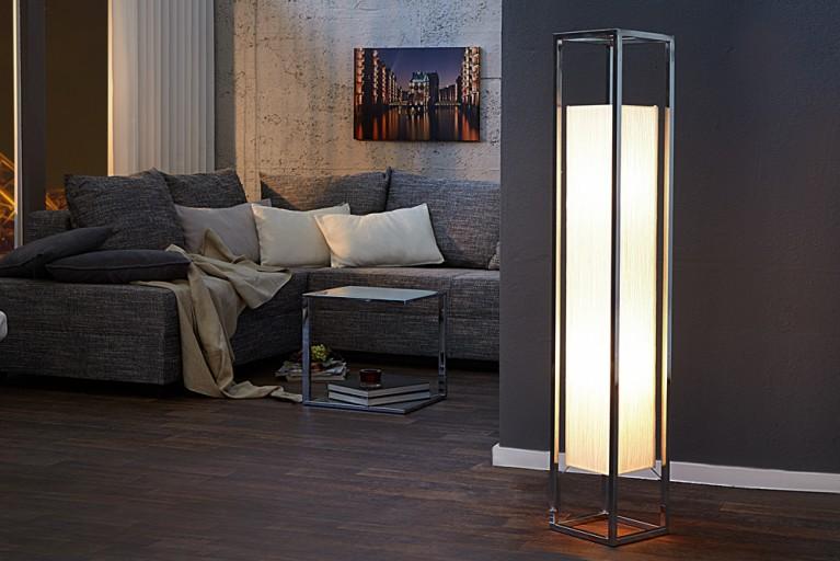 Exzeptionelle Stehlampe AGAPUNE in weiss 125cm