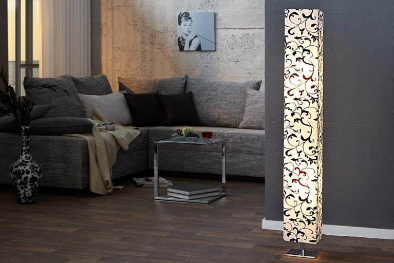 Designer Stehlampe PARIS FLORAL 120cm weiss
