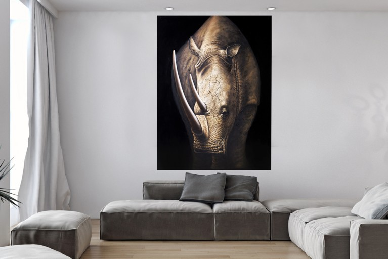 Handgemaltes Bild POWER OF NATURE 120x160 cm Zebra
