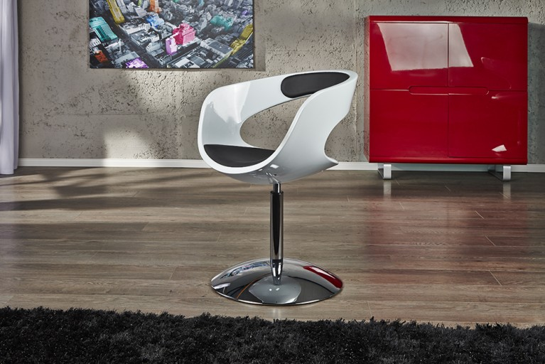 Lounge Sessel GAMBLER schwarz weiß
