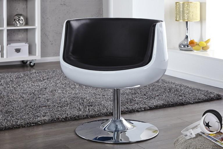 Lounge Sessel COMBO schwarz weiß