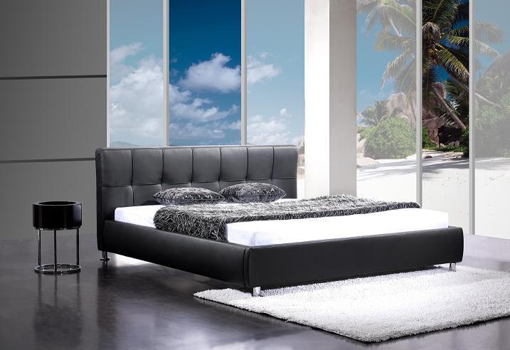 Design Bett BARCELONA 140x200 cm schwarz