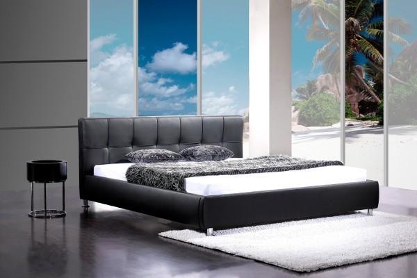 Design Bett BARCELONA schwarz 160 x 200cm