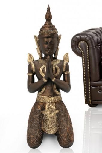 Grosse Tempelwächter Buddhas Statue Gold Bronze 90cm