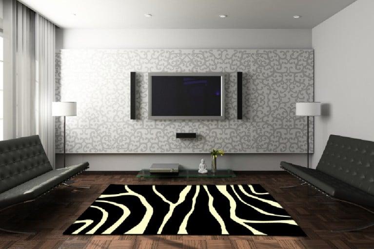 Dekorativer Design Teppich ZEBRA 160x230cm