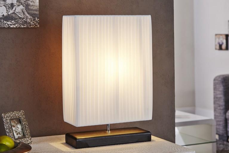 Art-Deco Design Tischlampe ATHENA weiss