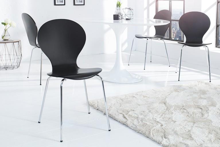 Design Stuhl FORM schwarz stapelbar