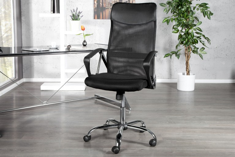 Design Bürostuhl COMMANDER schwarz Bürosessel Chefsessel